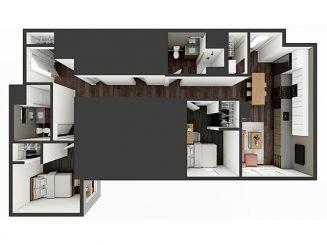 B6 XL Floor plan layout