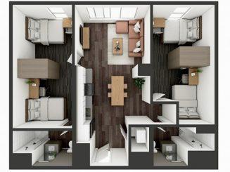 B4 Shared Floor plan layout