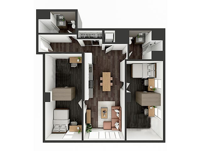 B6 XL Floor plan layout