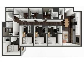 D4 Floor plan layout