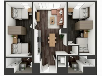 B4 Shared Floor plan layout