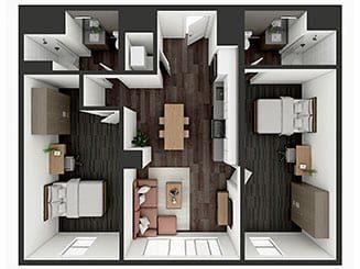 B4 XL Floor plan layout