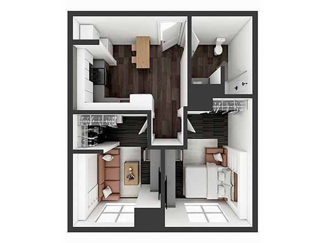 A2 Deluxe Floor plan layout
